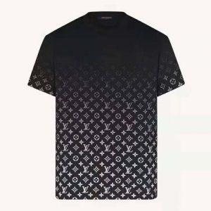 Louis Vuitton Men LVSE Monogram Gradient T-Shirt Cotton Regular Fit Black and White