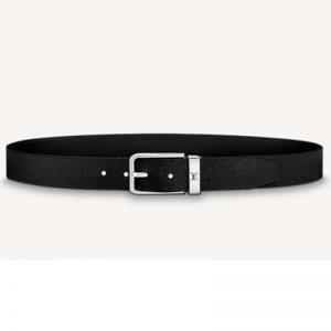Louis Vuitton Unisex Pont Neuf 35 mm Belt Taiga Calf Leather-Black