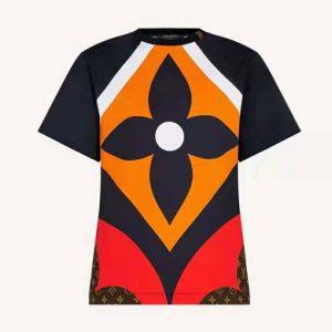 Louis Vuitton Women Game On Giant Monogram Flower Canvas T-Shirt Cotton Regular Fit