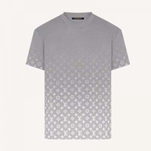Louis Vuitton Women Monogram Gradient T-Shirt Cotton Grey