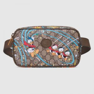 Gucci Unisex Disney x Gucci Donald Duck Print Belt Bag Leather Interlocking G