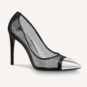 Louis Vuitton LV Women's Urban Twist Pump Mesh PVC Calf Leather 10.5 cm Heel