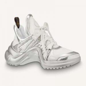 Louis Vuitton Women LV Archlight Sneaker Technical Fabric Bold Metallic Details