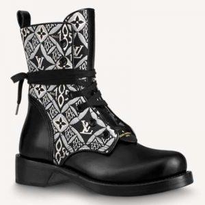 Louis Vuitton Women Since 1854 Metropolis Flat Ranger Jacquard Textile Calf Leather