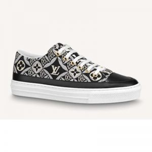 Louis Vuitton Women Since 1854 Stellar Sneaker Jacquard Textile Calf Leather Black