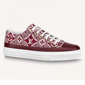 Louis Vuitton Women Since 1854 Stellar Sneaker Jacquard Textile Calf Leather Maroon