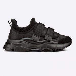 Dior Women D-Wander Sneaker Uber Black Dior Oblique Technical Fabric