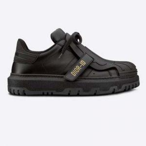 Dior Women Dior-ID Sneaker Black Calfskin and Rubber