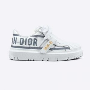 Dior Women Dior-ID Sneaker White and French Blue Technical Fabric