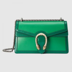 Gucci GG Women Dionysus Small Shoulder Bag Bright Green Leather