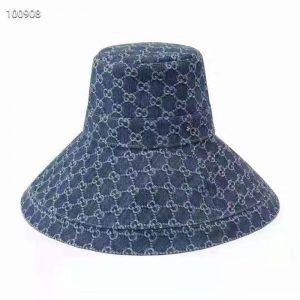 Gucci GG Women Hat Cap with Double G Dark Blue Denim Navy