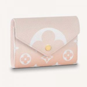 Louis Vuitton Unisex Victorine Wallet Mist Gray Monogram Coated Canvas Cowhide Leather