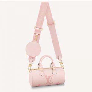 Louis Vuitton Women Papillon BB Carryall Bag Bouton De Rose Pink Embossed Grained Cowhide Leather