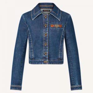 Louis Vuitton Women Retro Organic Cotton Denim Jacket Regular Fit