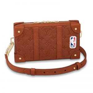 Louis Vuitton Unisex LV X NBA Soft Trunk Wearable Wallet Brown Ball Grain Leather