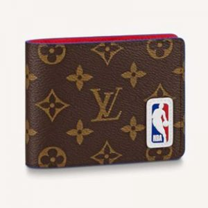 Louis Vuitton Unisex LV x NBA Multiple Wallet Monogram Coated Canvas