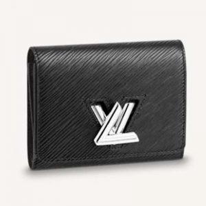 Louis Vuitton Unisex Twist Compact Wallet Black Epi Grained Cowhide Leather