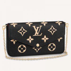 Louis Vuitton Women Félicie Pochette Monogram Empreinte Embossed Supple Grained Cowhide Leather