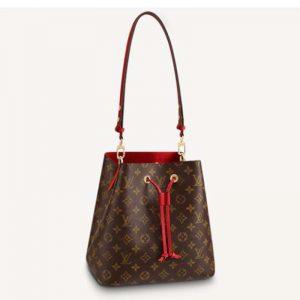 Louis Vuitton Women NéoNoé Bucket Bag Coquelicot Red Monogram Coated Canvas