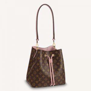 Louis Vuitton Women NéoNoé Bucket Bag Rose Poudré Pink Monogram Coated Canvas