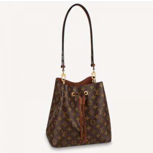 Louis Vuitton Women NéoNoé MM Bucket Bag Caramel Brown Monogram Coated Canvas