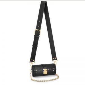 Louis Vuitton Women Papillon Trunk handbag Black Epi Cowhide Leather