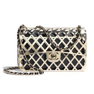 Chanel Women Evening Bag Gold-Tone Metal Lambskin Gold Black