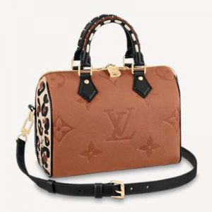 Louis Vuitton LV Women Speedy Bandoulière 25 Handbag Caramel Embossed Supple Grained Cowhide