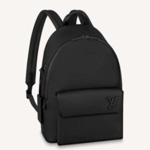 Louis Vuitton LV Unisex Aerogram Backpack Black Grained Calf Cowhide Leather
