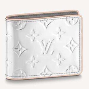 Louis Vuitton Unisex Slender Wallet Monogram Mirror Coated Canvas Monogram Flowers LVs
