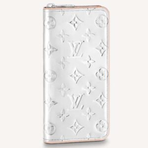 Louis Vuitton Unisex Zippy Wallet Vertical LV Mirror Mirror Monogram Mirror Coated Canvas