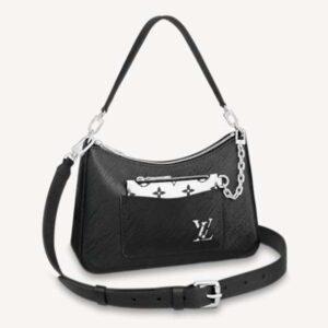 Louis Vuitton Women Marelle Handbag Black Epi Grained Cowhide Leather Canvas